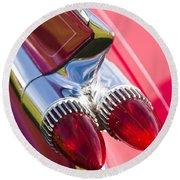 1959 Cadillac Eldorado Tail Fin 2 Round Beach Towel