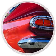 1959 Chevrolet Biscayne Taillight Round Beach Towel