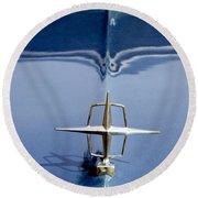 1959 Continental Mark II Hood Ornament Round Beach Towel