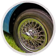 1959 Jaguar X K 150s Wire Wheel Round Beach Towel