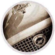 1959 Nash Metropolitan 1500 Convertible Hood Ornament - Grille Emblem -0180s Round Beach Towel