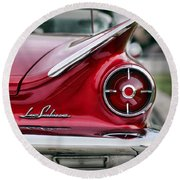 1960 Buick Lesabre Round Beach Towel