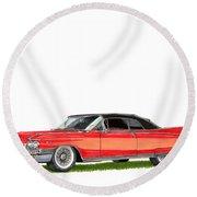 1960 Cadillac El Dorado Biarritz Round Beach Towel