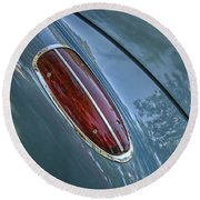 1960 Chevrolet Corvette Tail Light Round Beach Towel