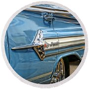 1960 Chevy Impala Round Beach Towel