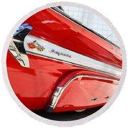 1960 Chevy Impala Low Rider Round Beach Towel