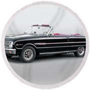 1960 Ford Falcon Sprint Convertible I Round Beach Towel