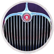 1960 Jaguar Xk150 Roadster 2 Round Beach Towel