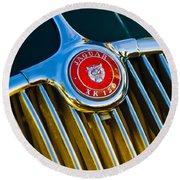 1960 Jaguar Xk150 Roadster 3 Round Beach Towel