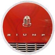1960 Triumph Tr3 Emblem Round Beach Towel