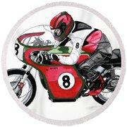 1960s Ducati Desmo Round Beach Towel