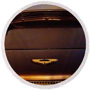 1961 Aston Martin Db4 Coupe Emblem Round Beach Towel