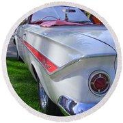 1961 Chevrolet Impala Convertible Round Beach Towel