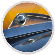 1961 Ford Starliner Hood Ornament Round Beach Towel