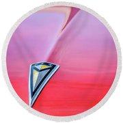 1961 Pontiac Catalina Hood Emblem Round Beach Towel