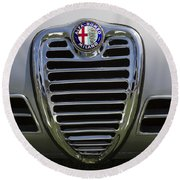 1962 Alfa Romeo Grille Round Beach Towel