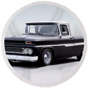 1962 Chevrolet Shortbed Pickup I Round Beach Towel