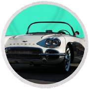 1962 Corvette Round Beach Towel