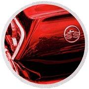 1963 Chevrolet Impala Ss Red Round Beach Towel