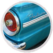 1963 Ford Falcon Tail Light And Logo Round Beach Towel