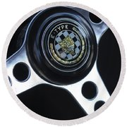 1963 Jaguar Xke Roadster Steering Wheel Round Beach Towel