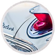 1963 Mercury Meteor Taillight Emblem Round Beach Towel