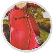 1963 Vespa 50 Round Beach Towel