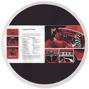 1964 Ford Mustang-06-07 Round Beach Towel