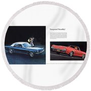 1964 Ford Mustang-08-09 Round Beach Towel