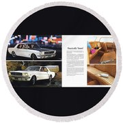1964 Ford Mustang-10-11 Round Beach Towel