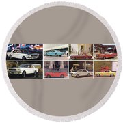 1964 Ford Mustang-10-11ab Round Beach Towel