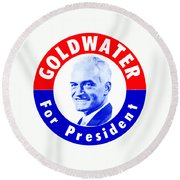 1964 Goldwater For President Round Beach Towel