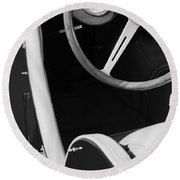 1964 Morgan 44 Black And White Round Beach Towel
