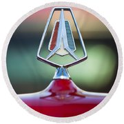 1964 Plymouth Hood Ornament Round Beach Towel
