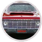 1964 Plymouth Savoy Hemi  Round Beach Towel