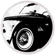 1964 Shelby Cobra Sketch Round Beach Towel