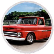 1965 Chevrolet 3100 Pickup I Round Beach Towel