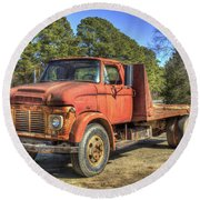 1965 Ford F600 Snub Nose Commercial Truck Round Beach Towel