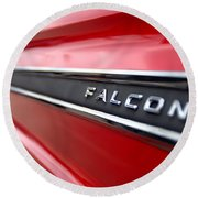 1965 Ford Falcon Name Plate Round Beach Towel