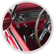 1965 Ford Mustang Fastback Dash Round Beach Towel