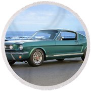 1965 Ford Mustang Fastback II Round Beach Towel