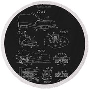 1965 Golf Shoes Patent Round Beach Towel