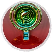 1965 Marlin Rambler Hood Ornament Round Beach Towel