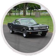 1965 Mustang Fastback Kearney Round Beach Towel