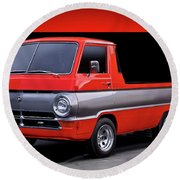 1966 Dodge A100 Pickup Round Beach Towel