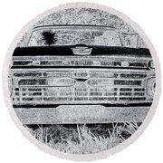 1966 Ford F100 Sketch Round Beach Towel