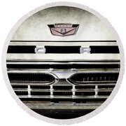 1966 Ford Pickup Truck Grille Emblem -0154ac Round Beach Towel