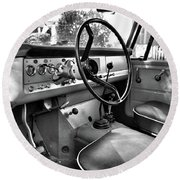 1966 International Scout Driver's Side B Round Beach Towel
