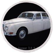 1966 Jaguar 3.8 S Type Round Beach Towel