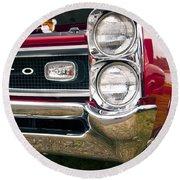 1966 Pontiac Gto Grill Round Beach Towel